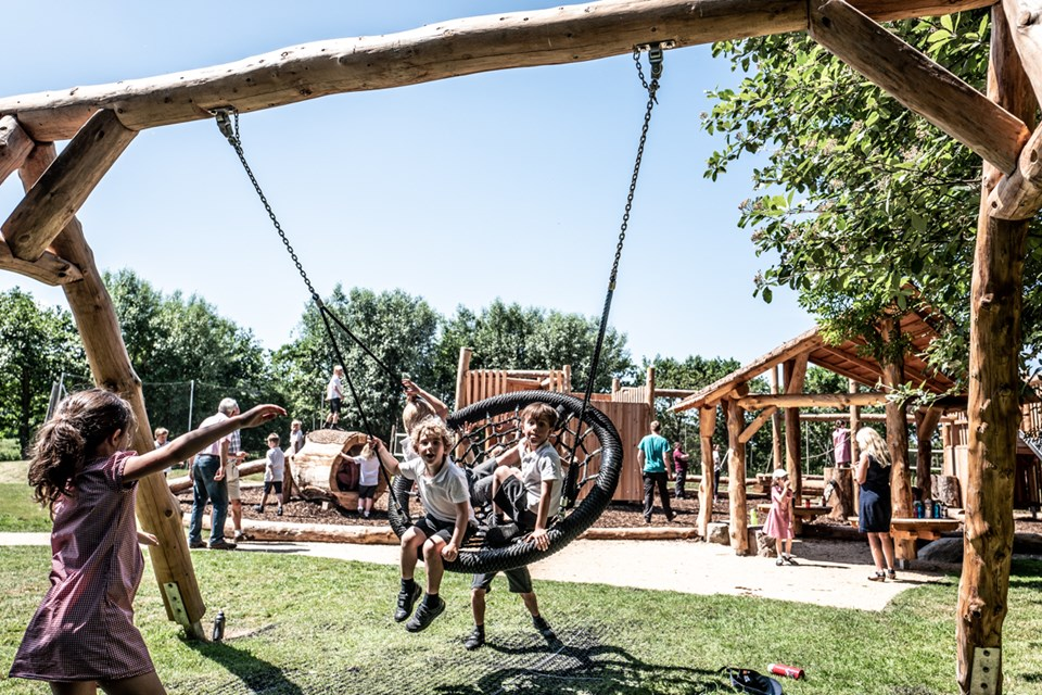 Natural community playground by Touchwood Play